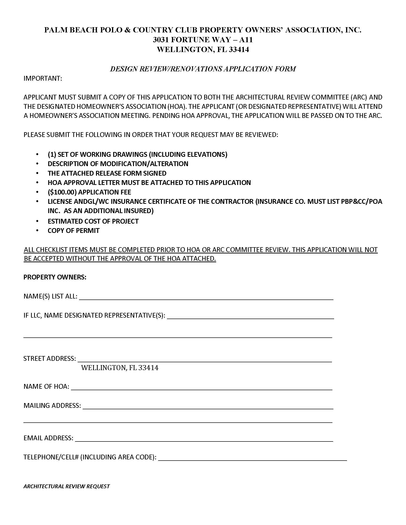 arc renovation form to view the able pdf version please click here